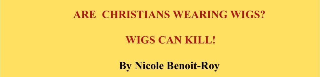 Wearing wigs banner